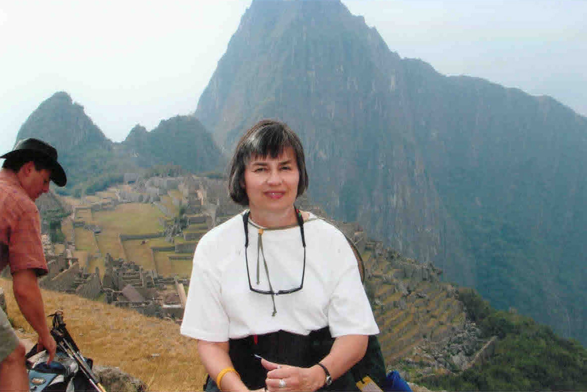 Ann Ward at the top of Huayna Picchu