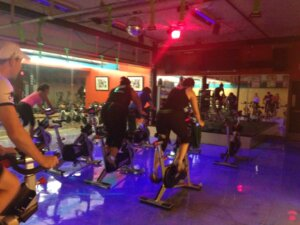 Indoor Cycling class at our inaugural fitness expo