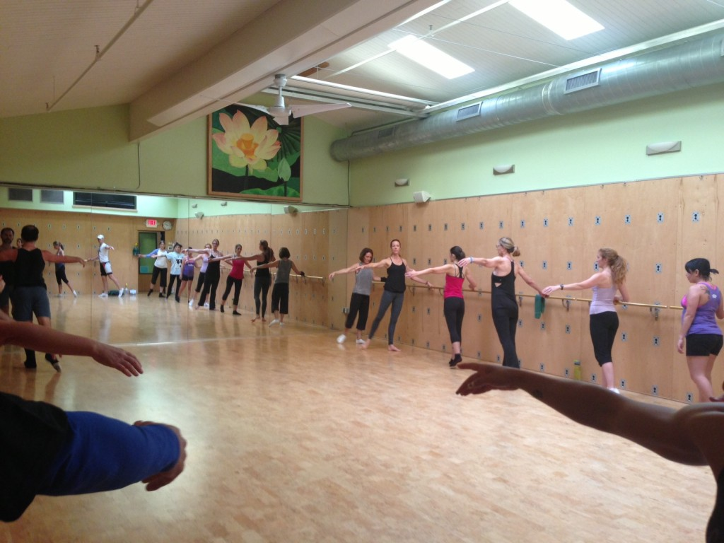 Ballet Barre class at the inaugural fitness expo