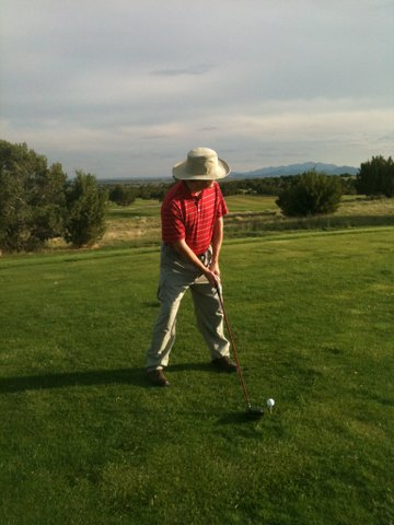 John Hays playing golf