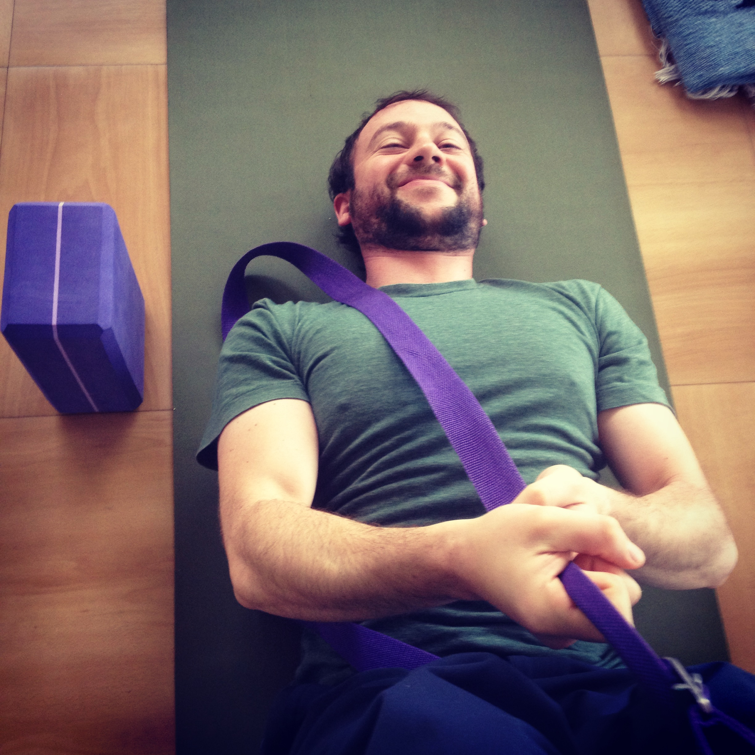 Dave Cohen enjoying a supine stretch