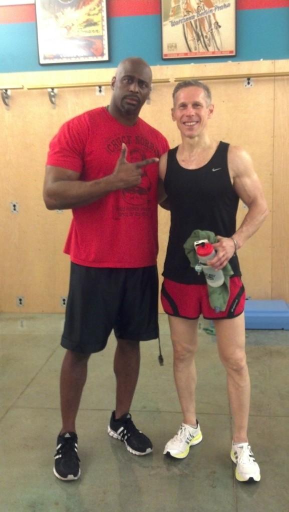 Master trainer Robert Reed and Ben Gordon