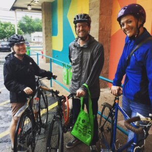 Morning Rush Hour in full effect with these Castle Hill Friends - Bike to Work Austin 2015