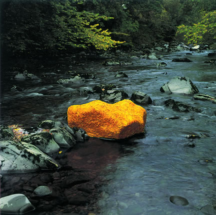 River Rock Finished with Gold Leaf