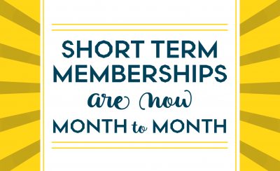 Memberships are now month-to-month!