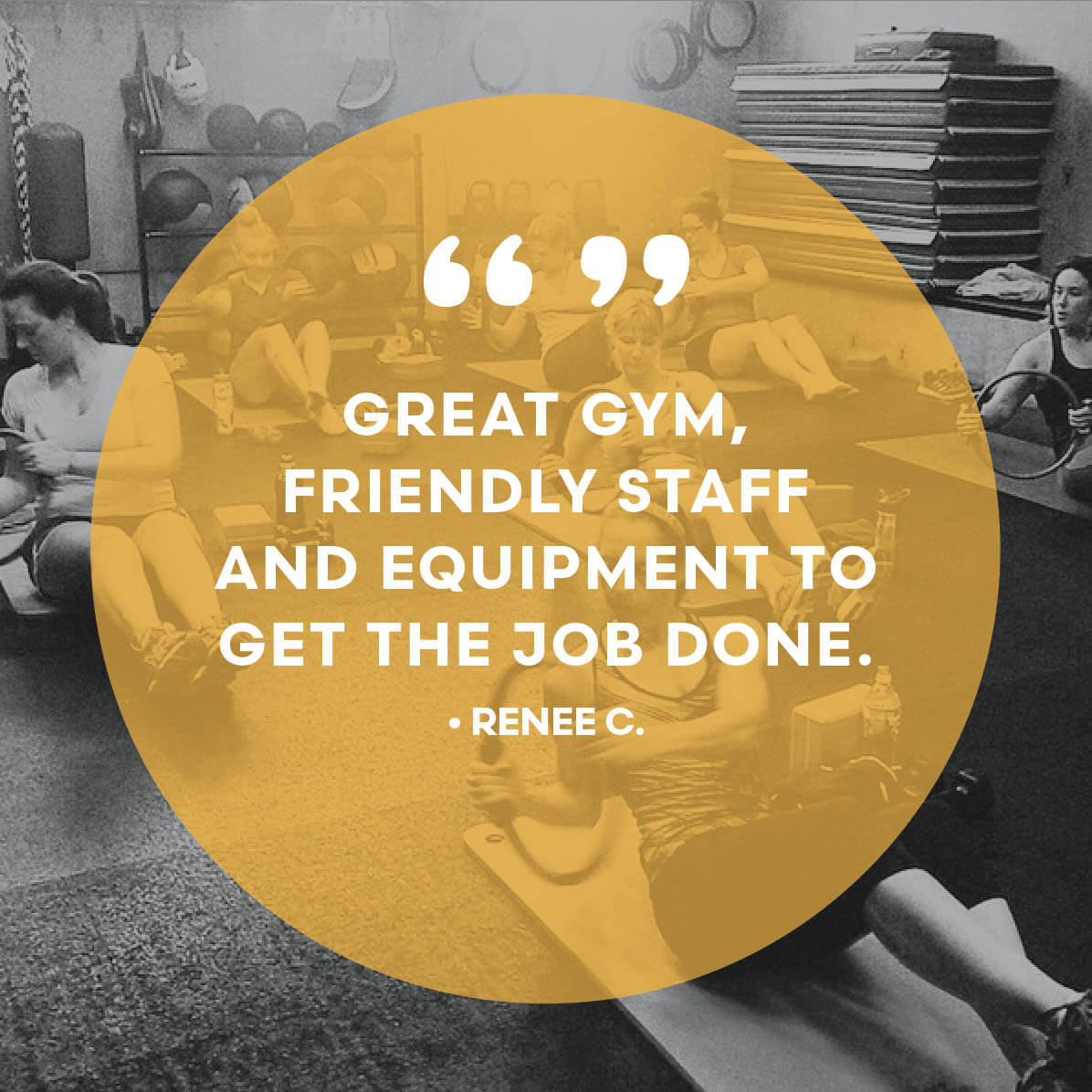 Gym testimonial - Great gym, friendly staff, and equipment to get the job done.