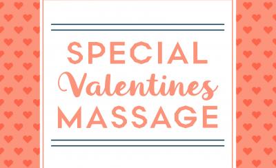 Valentine's Massage Special