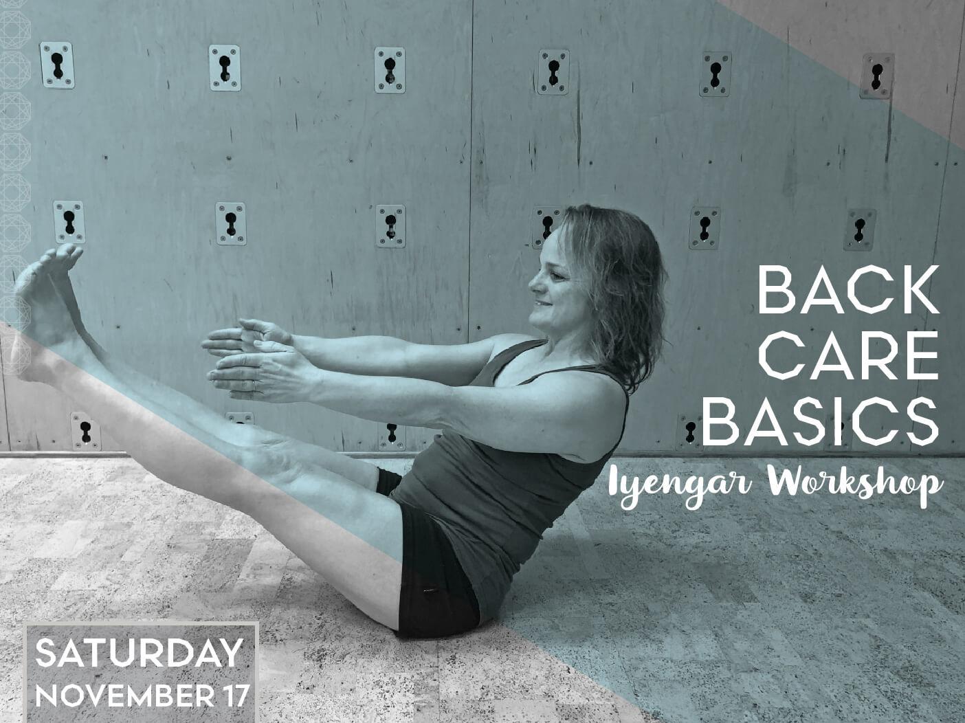 Back Care Basics: Iyengar Workshop