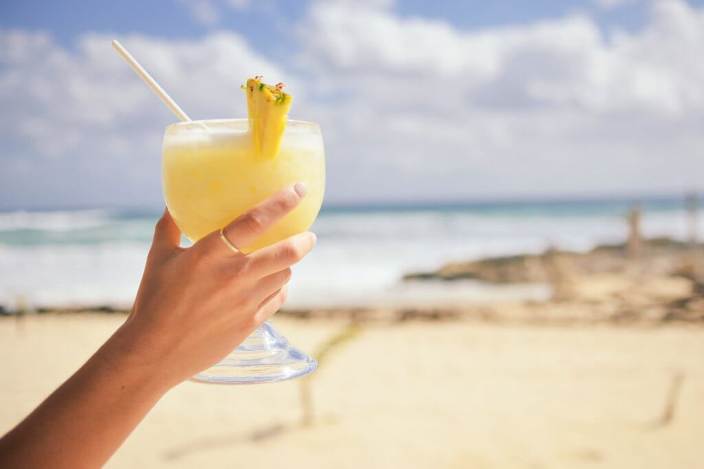 Drinks of a Beach Relaxing