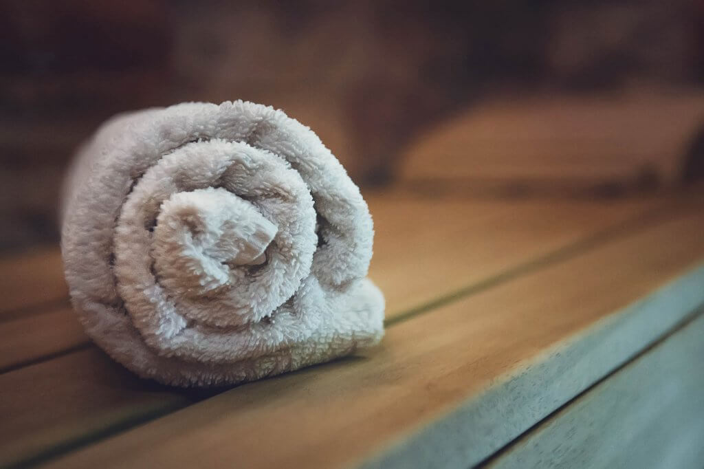Rolled Up Towel image for use in Infrared Sauna