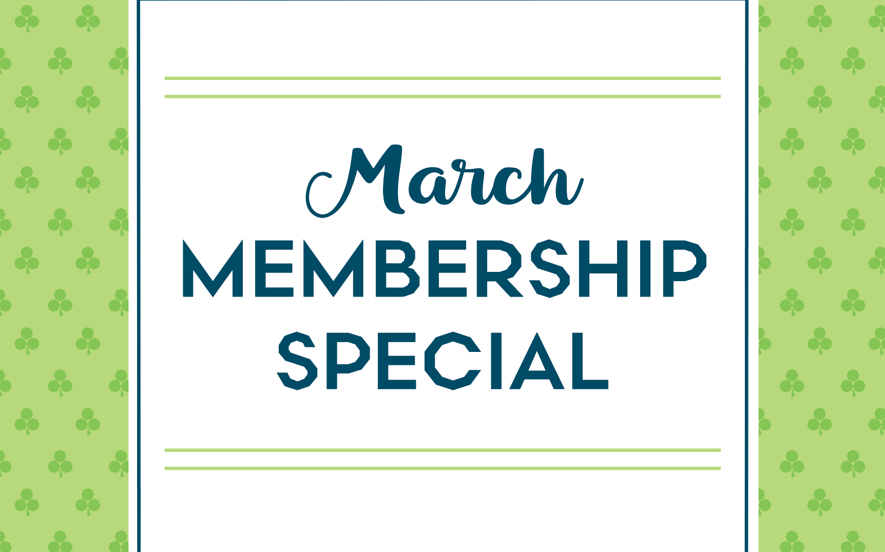March Gym Membership Special