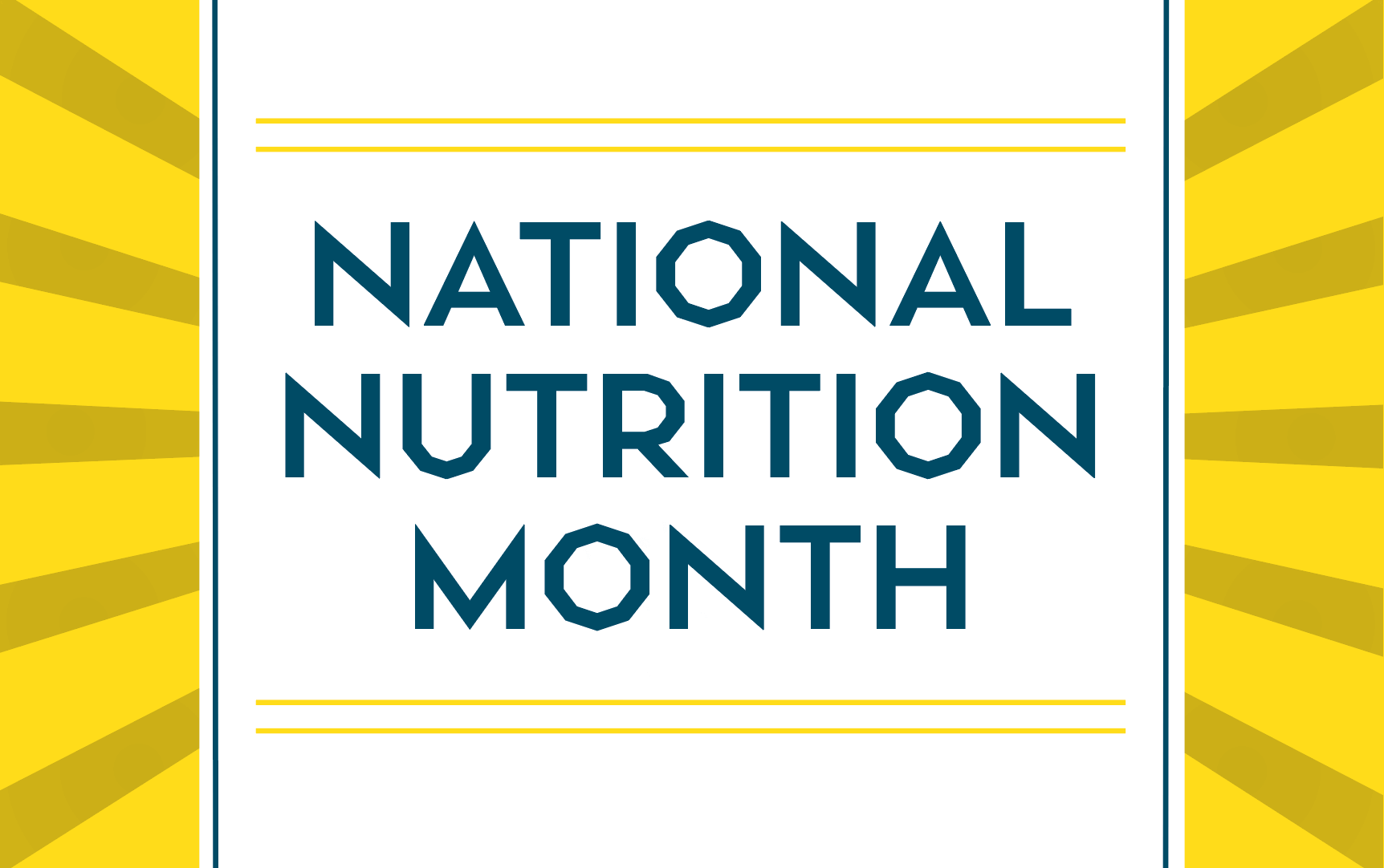 National Nutrition Month March Promo