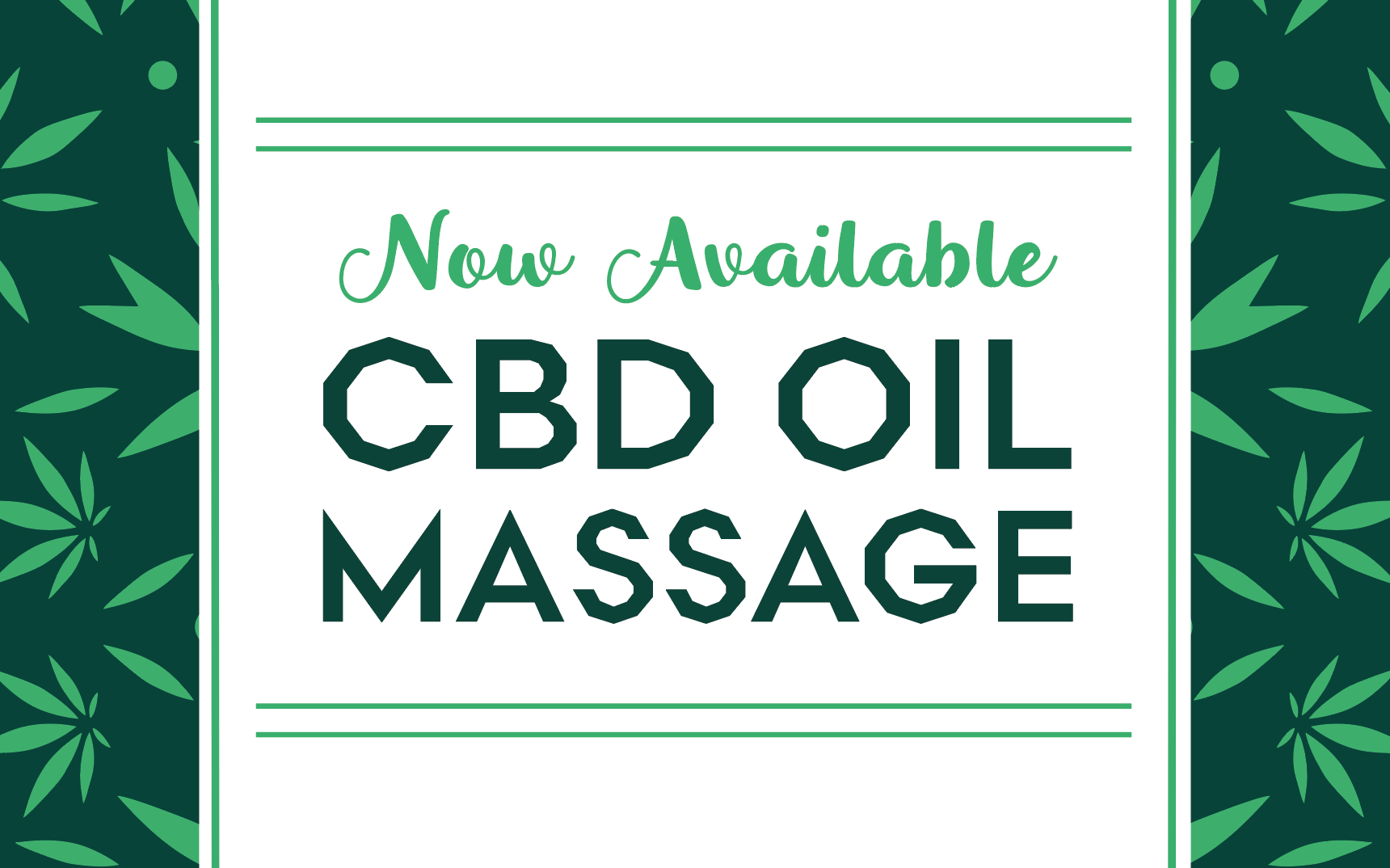 April Spa Promo CBD Massage Oil
