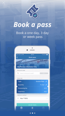 Booking a Pass on IHRSA Passport Program by TrainAway
