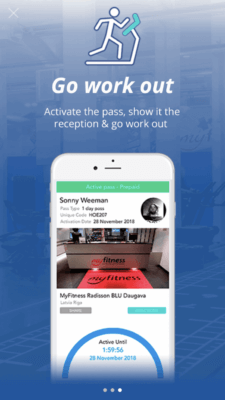 IHRSA Passport Program on TrainAway app
