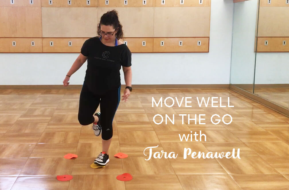 Title Card Image for Tara's Move Well on the Go Online Workout