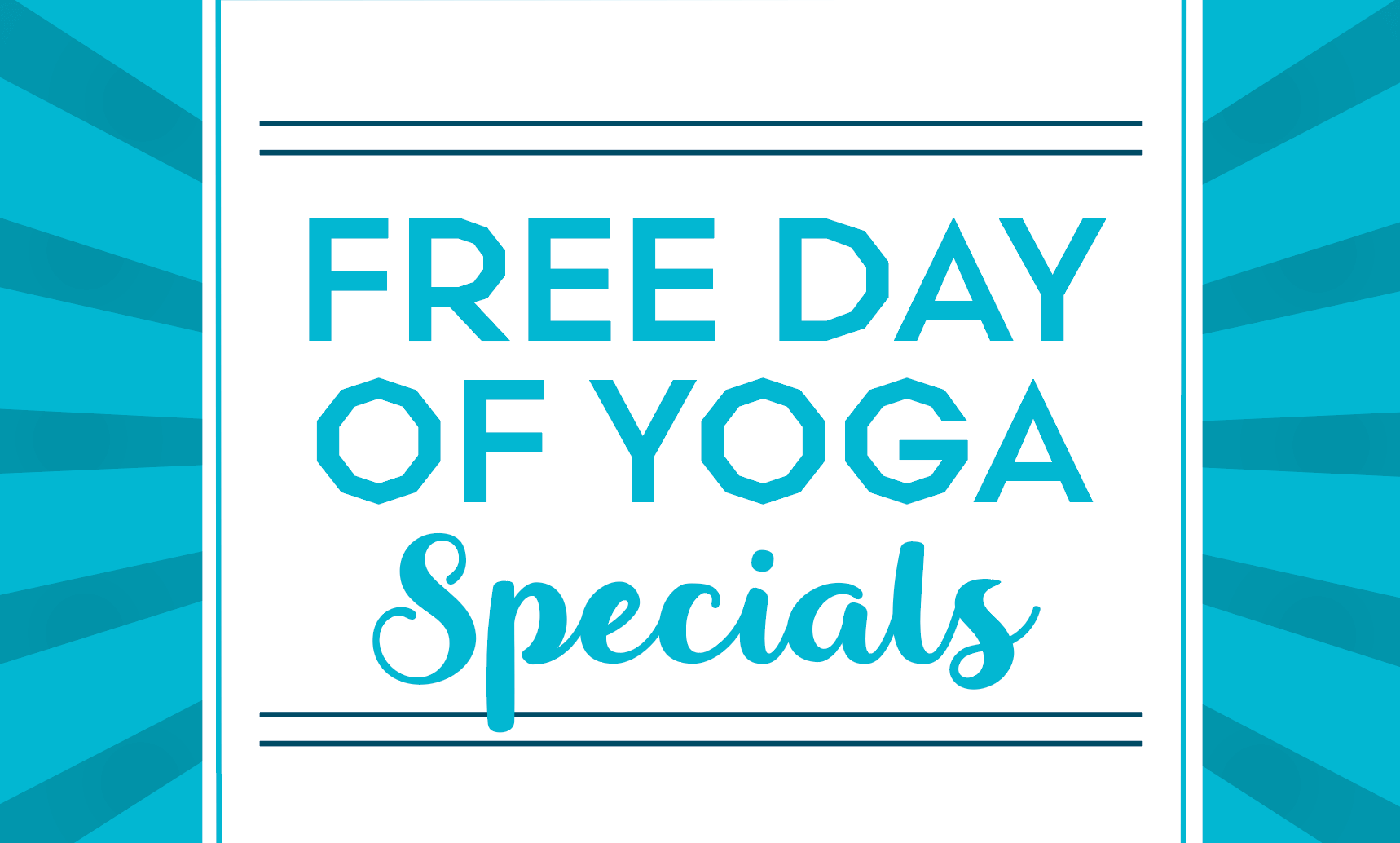Free Day of Yoga Class Card Promo Page