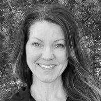 Sherri Lepley Personal Trainer and Health Coach Black and White Photo