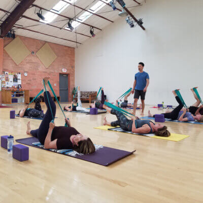 Anna and Jae Hoon's Yoga and Pilates retreat- Jae Hoon Leading Pilates Workout