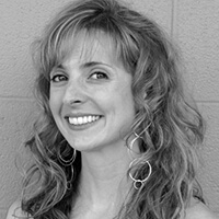 Yoga Instructor Collette Hill Black and White photo