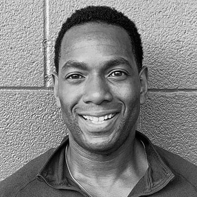 Personal Trainer Amid Archibald Black and White Headshot