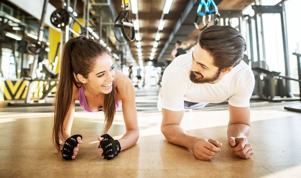 Couple Working out for Valentine's Day