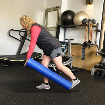 Personal Trainer Leslee Feldman Demonstrating Single Legged Deadlift
