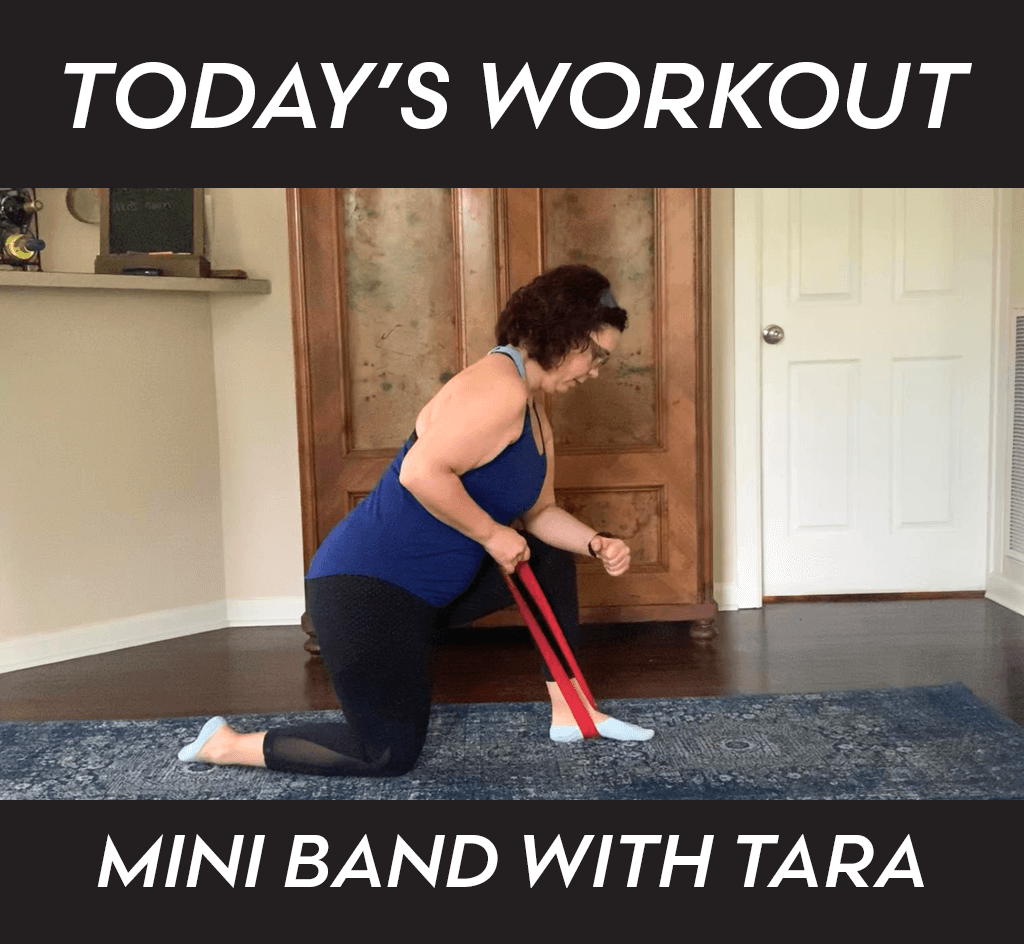 Tara Mini Band Workout Daily Workout Blog Image