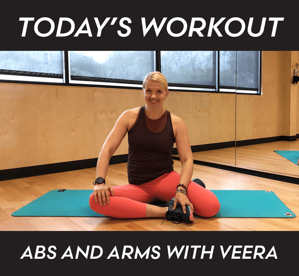 Veera Abs and Arms Daily Workout Blog Image