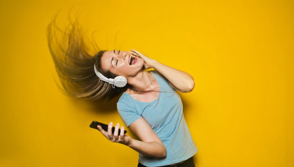 woman listening to music for quarantunes