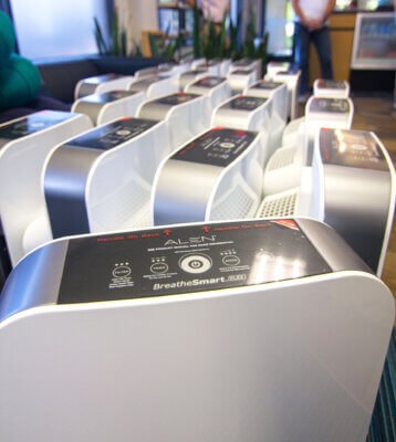 HEPA Air Filters at Castle Hill Fitness 360