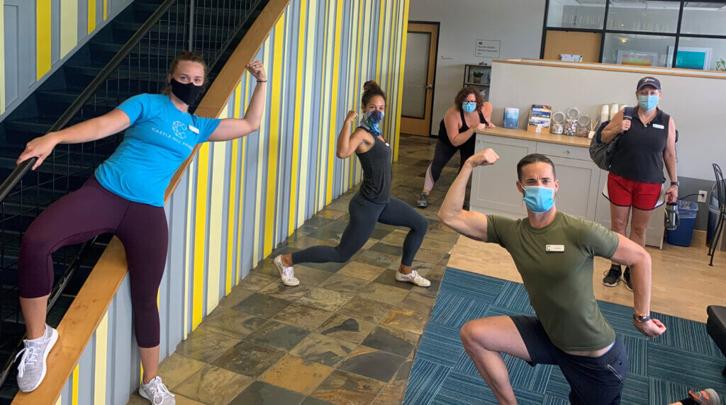 Castle Hill Fitness Staff in Face Masks