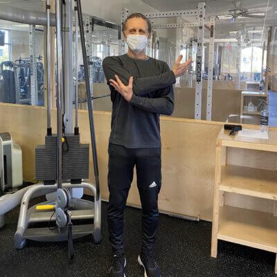 Mark Posterior Deltoid Stretch - main gym pod 64 profile