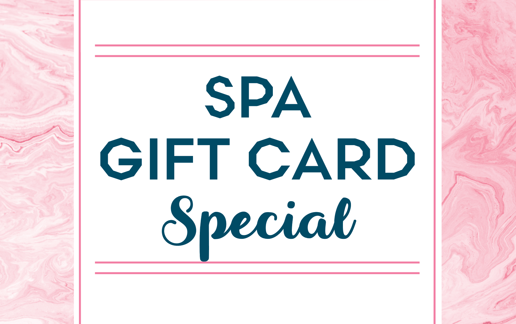 Spa Gift Card Special for Valentine's Day