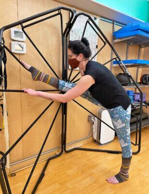 Erin Pod 23 Profile, Standing One Legged Hamstring Stretch