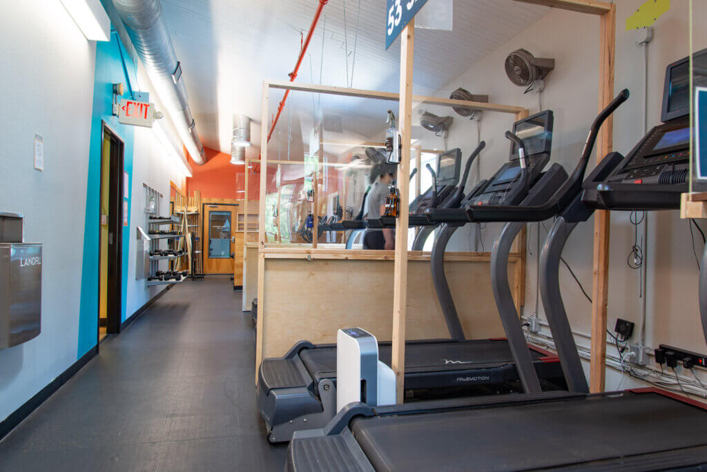 Upstairs Cardio Hall at Castle Hill Fitness Downtown