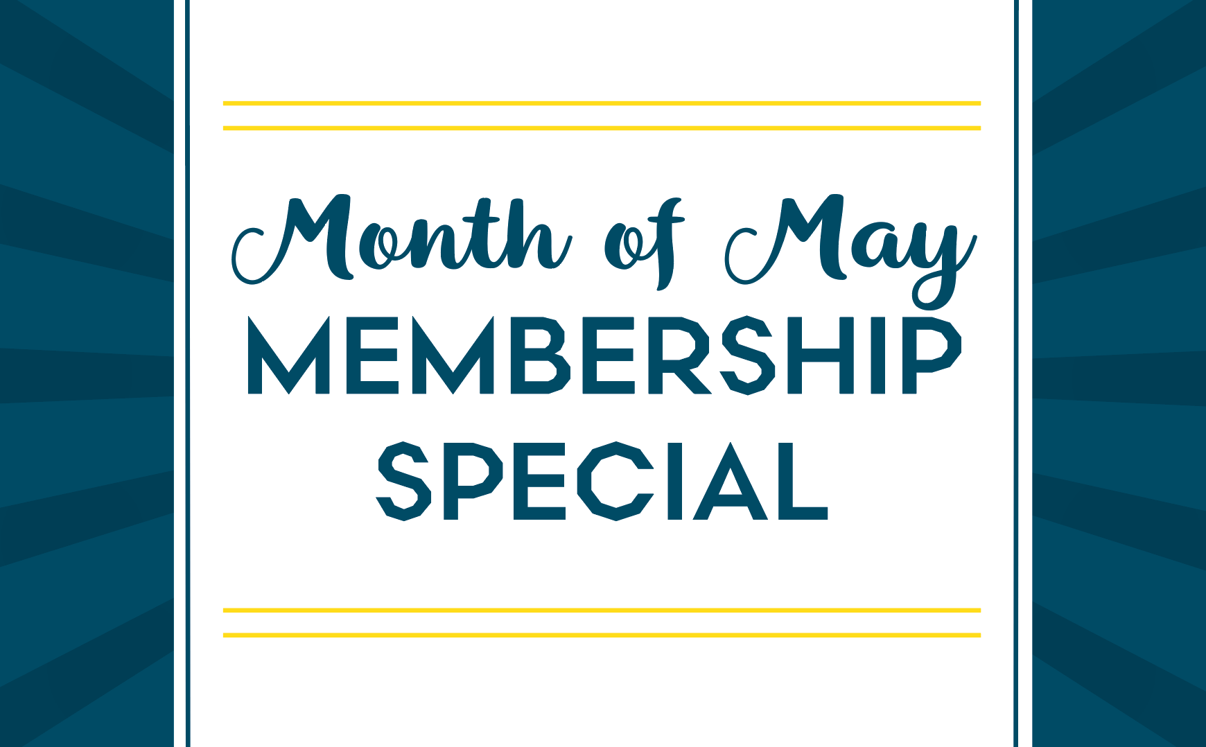May Gym Membership Special