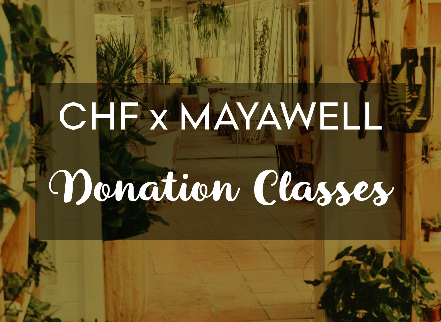 Special Offsite Donation Classes at Moment by Mayawell