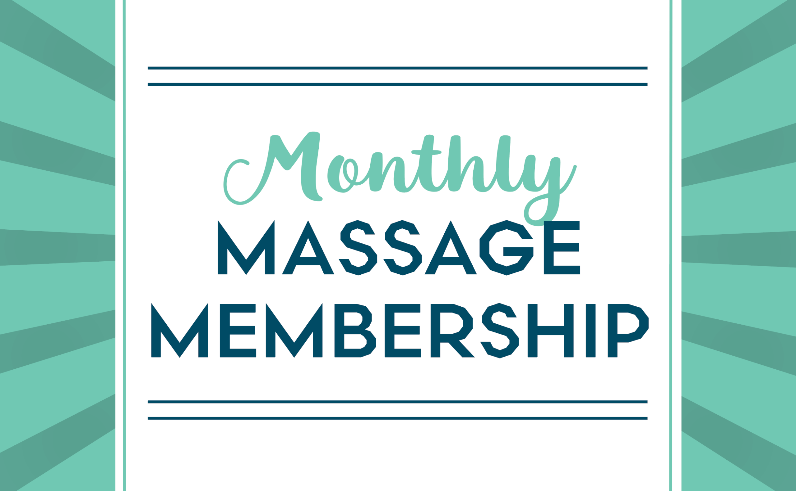 Monthly Massage with VIP Plus Membership