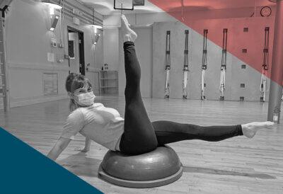 Pilates Instructor Heather on Bosu